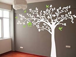 White Tree Wall Decal Nursery Pop Decors Removable Vinyl Wall Decals Mural For