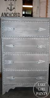 lake paints gray and white arrow dresser western decor