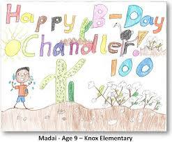 centennial birthday card cover design winners chandler museum