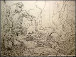 runic piranha studios art of andy brase inking scarecrow