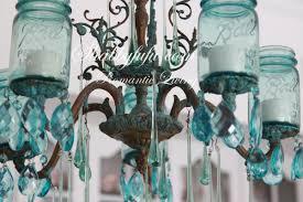 Blue Bottle Chandelier by The Original Shabbyfufu Blue Mason Jar Chandelier Shabbyfufu