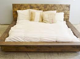 Floating Bed Frame For Sale Rustic Wood Platform Bed Frame With Patterned