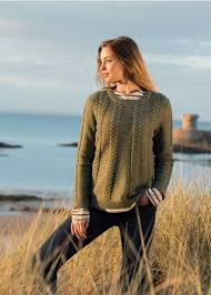 irish fisherman style sweater for women saint james