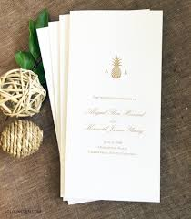 pineapple wedding programs wedding invitations by lolo lincoln