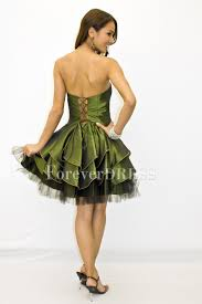 green petticoat duchesse tier ball gown vintage prom dress