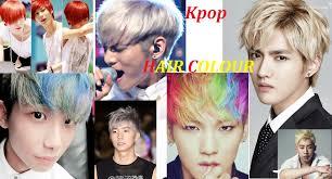 popular kpop hair colours men hair kpop star all colour hairstyle youtube