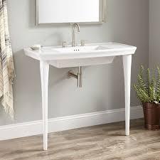 unlock console bathroom sink olney porcelain