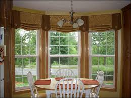 Kitchen Window Curtains by Kitchen Simple Grommet Top Chevron Orange Curtains Hanging On