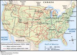 North American Time Zones Map by History Of The American West Online