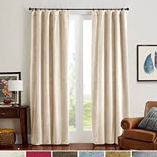 Amazon Thermal Drapes Amazon Com Half Blackout Velvet Curtain Panels Rod Pocket Drapes