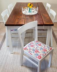 Reupholstering A Dining Room Chair How To Beautifully Reupholster Dining Room Chairs On A Budget