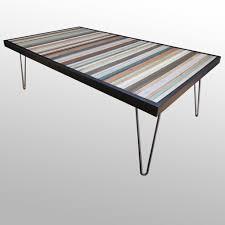 Reclaimed Wood Furniture Beach Reclaimed Wood Stripe Desk Or Coffee Table U2013 Scrap Wood Designs