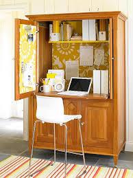 bureau dans une armoire gain de place créez votre bureau dans une armoire armoires