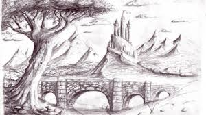 photos beautiful pencil sketches of scenery drawings art gallery