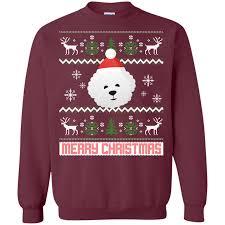 bichon frise santa snow sweater sale 20 today