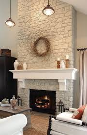 fireplace and mantel likes the two colors of white would paint
