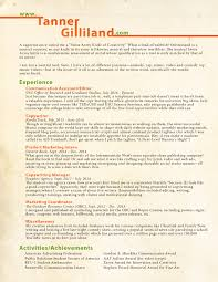 resume u2013 tanner gilliland