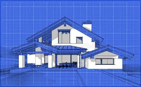 chalet style 3d render sketch of modern cozy house in chalet style stock