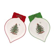 spode tree set of 2 ornament dishes spode usa