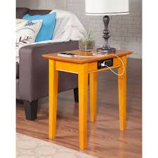 shaker chair side table rectangular charging station dcg stores