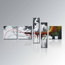 China HandPainted Group  Piece Modern Framed Home Decor Canvas - Wall paintings for home decoration