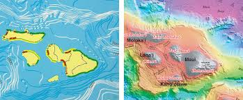 Map Hawaii Mountains Unseen Developing A Relief Map Of The Hawaiian Seafloor