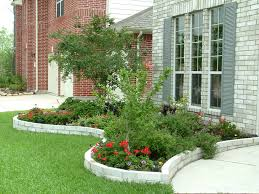 flower beds in front of house ideas