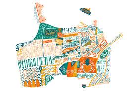 San Francisco Maps by San Francisco Map Illustrated Maps By Benoit Cesari Aka Bnito