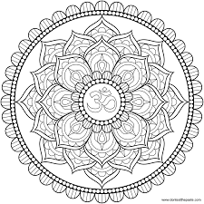 great printable flower coloring page mandala with mandala coloring