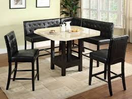 bar height dining room sets counter height dining table set booth style seats donna s table
