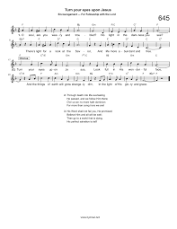 Father Of Lights Lyrics Hymn Turn Your Eyes Upon Jesus