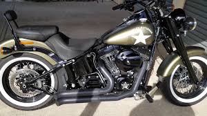 mustang seats for harley davidson harley davidson softail slim s update with bassani exhaust and