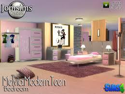 Modern Teenage Bedroom Furniture by Jomsims U0027 Melvia Modern Teen Bedroom