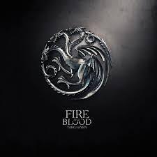 art from game of thrones dragon sigil of house targaryen fire