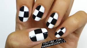 easy checkerboard nail art youtube