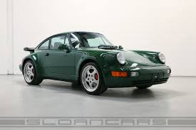 porsche 964 ducktail 1994 porsche 964 3 6 turbo paint to sample irish green sloan cars