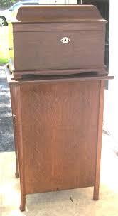 victrola record player cabinet oak victrola record player brass lantern antiques