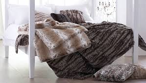 Furry Blanket Helen Moore Faux Fur Lynx Comforter Buy Online At Luxdeco