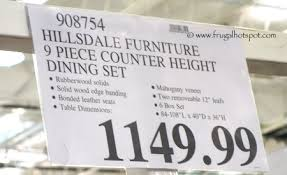 Costco Furniture Dining Room Costco Hillsdale Furniture 9 Pc Counter Height Dining Set