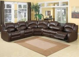 leather sectional reclining foter