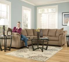 signature design by darcy mocha contemporary sectional