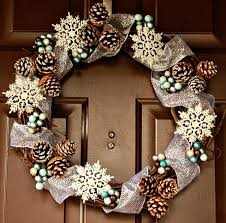 Images Of Decorated Christmas Wreaths by 35 Best Winter Wreath Ideas Pinecone Wreaths And Berry