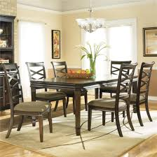 hayley contemporary 7 piece dining set with x back chairs by