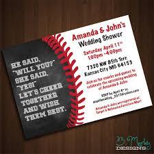 baseball wedding invitations baseball themed wedding shower invitation by b murley designs on