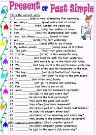 present or past simple worksheets pinterest presents simple