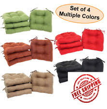 Patio Chair Cushions Set Of 4 Set Of 4 Chair Cushion Seat Pad Patio Outdoor Garden Dining