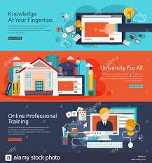 design online education online education concept banners set in flat design stock photo