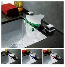 led waterfall sink faucet a019 14 waterfalls and faucets