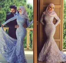 wedding dress for muslim sleeves lace mermaid muslim wedding dresses islamic