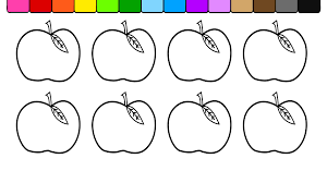 learn colors for kids children toddlers and color apples coloring